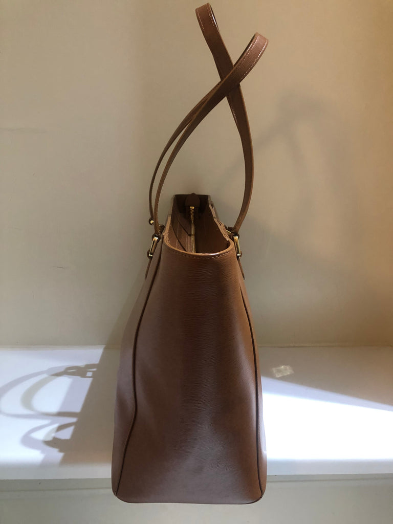 Leather Tote by Lauren Ralph Lauren
