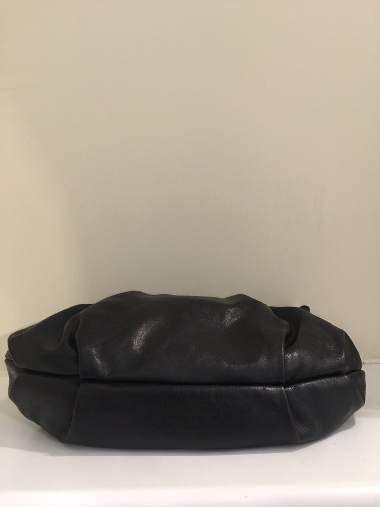 Black Buckle Pleated Hobo by Prada