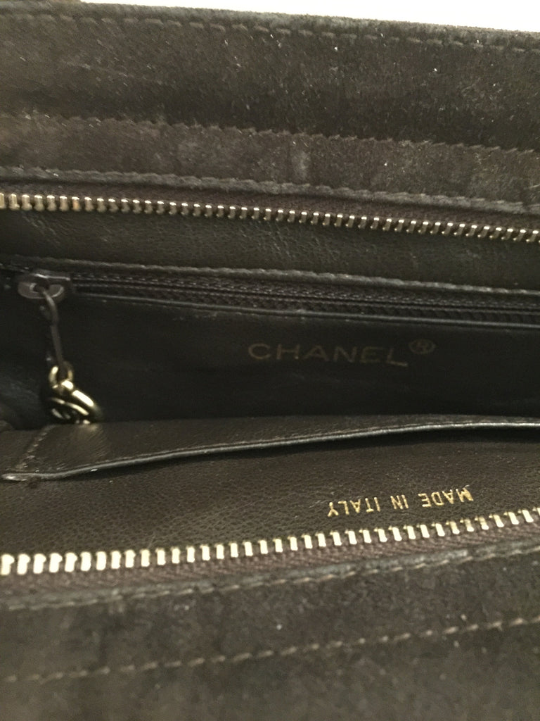 Vintage Brown Suede Bag by Chanel