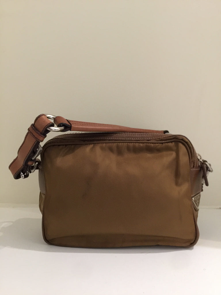 Tessuto Double Zip Bag by Prada