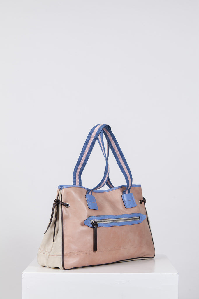 Suede and leather shopper by Hogan
