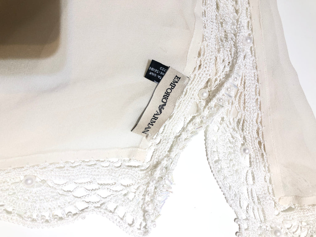 Silk Beaded Shawl by Emporio Armani