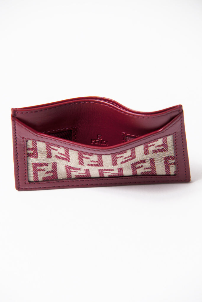 Zucca print card holder by Fendi