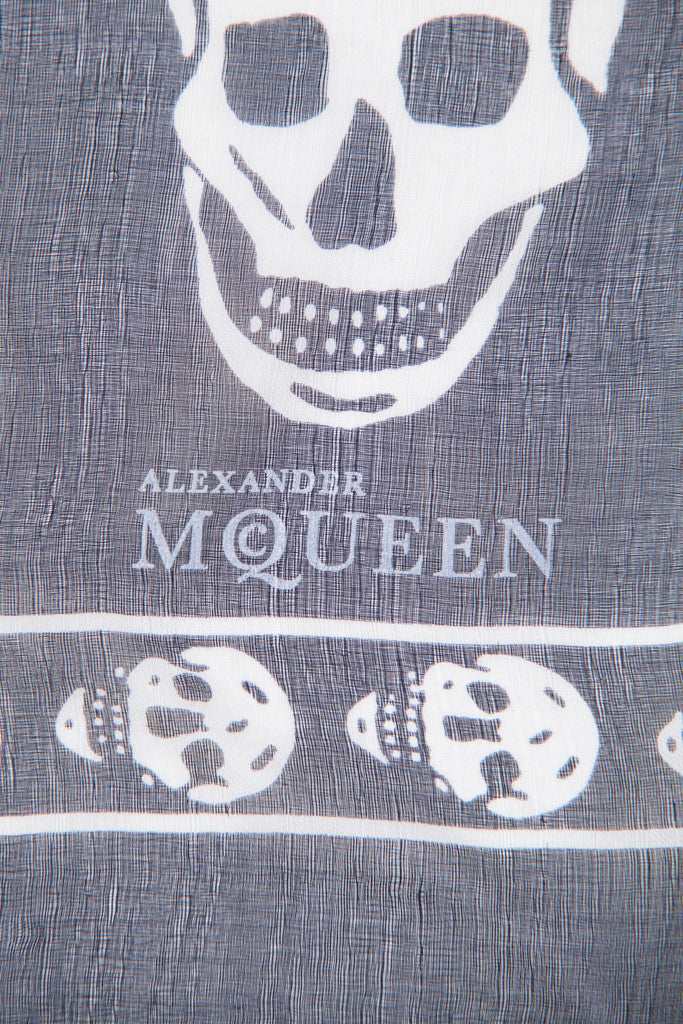 Skull print scarf by Alexander McQueen