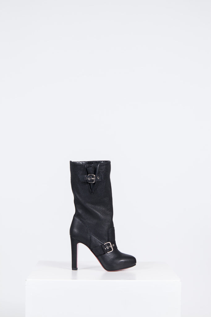 Calf-length Flanavec boots by Christian Louboutin