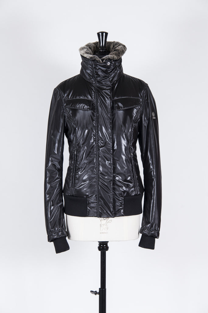 Waterproof jacket with fur collar by Belstaff