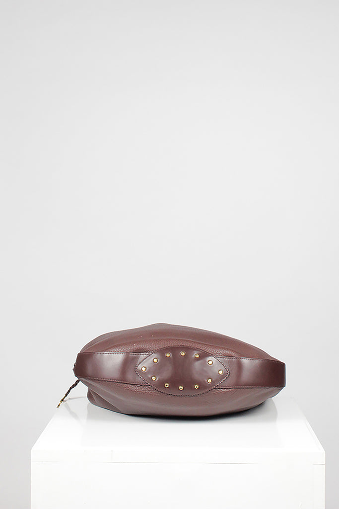 Chestnut leather Shoulder Bag by Chesneau
