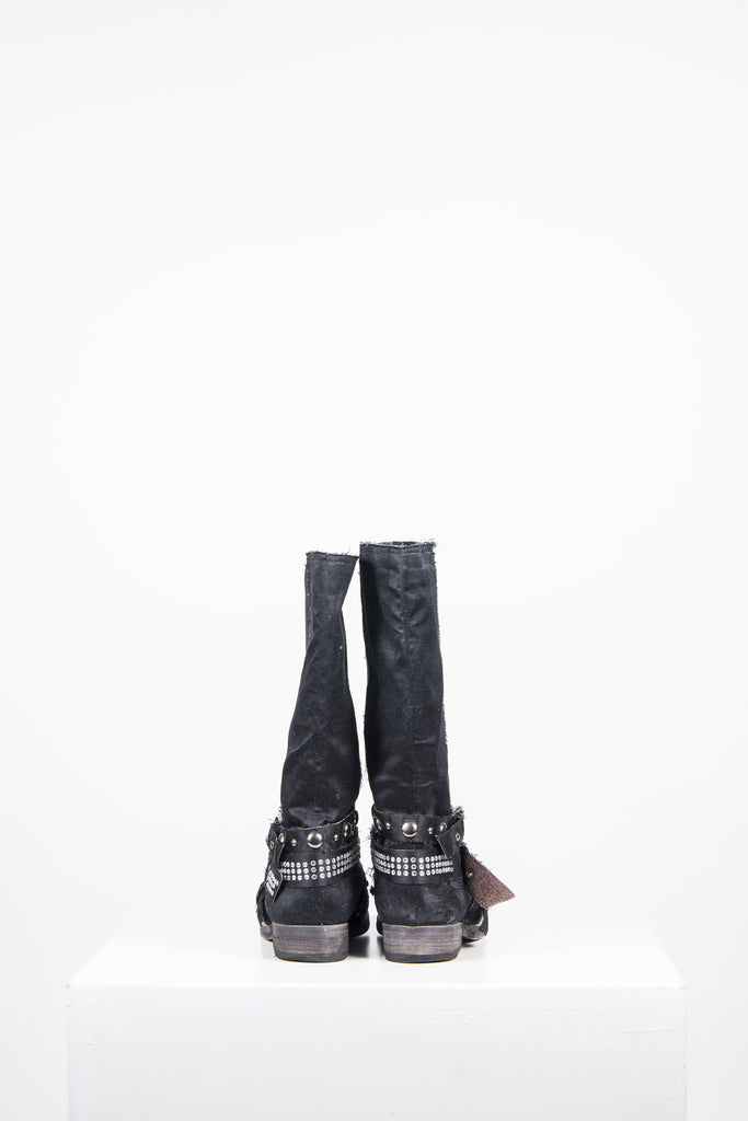 Satin and diamante boots by Baldinini