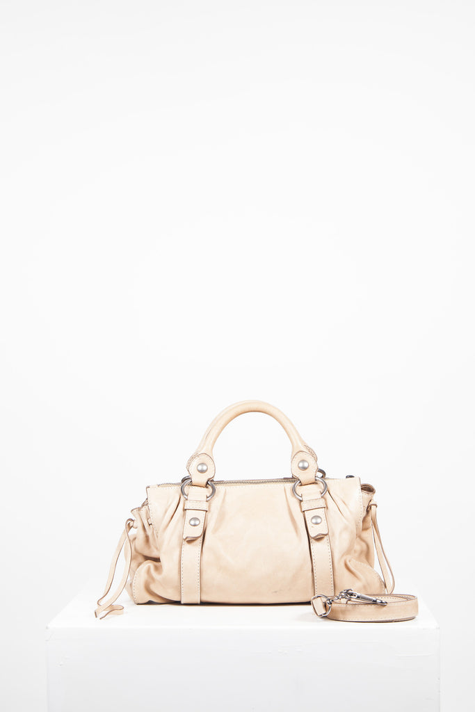 Drawstring detail bag by Miu Miu