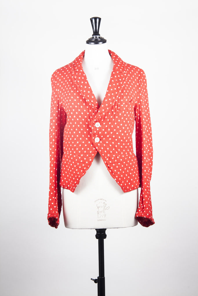 Polka dot jacket by Comme des garcons