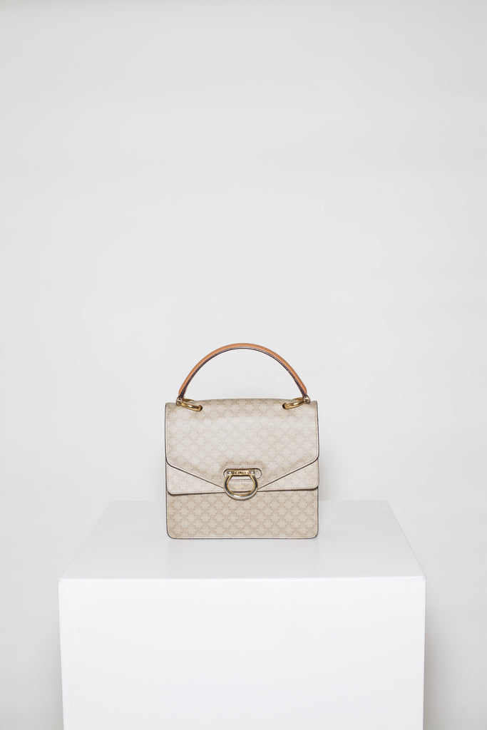 Macadam double-flap top-handle bag by Celine