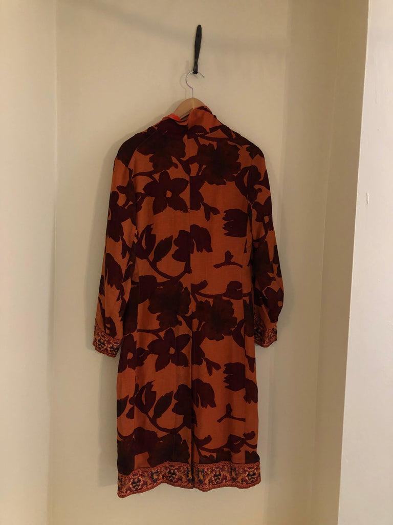 Burnt Orange Evening Coat by Voyage