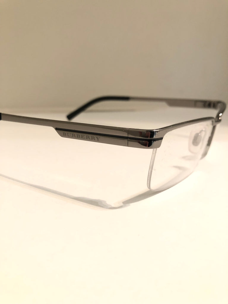 Semi Rimless Gunmetal Optical Frames by Burberry