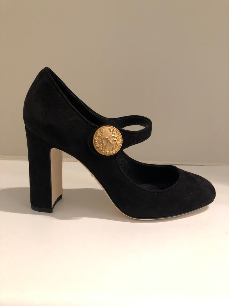 Mary Jane Suede Heels by Dolce and Gabbana