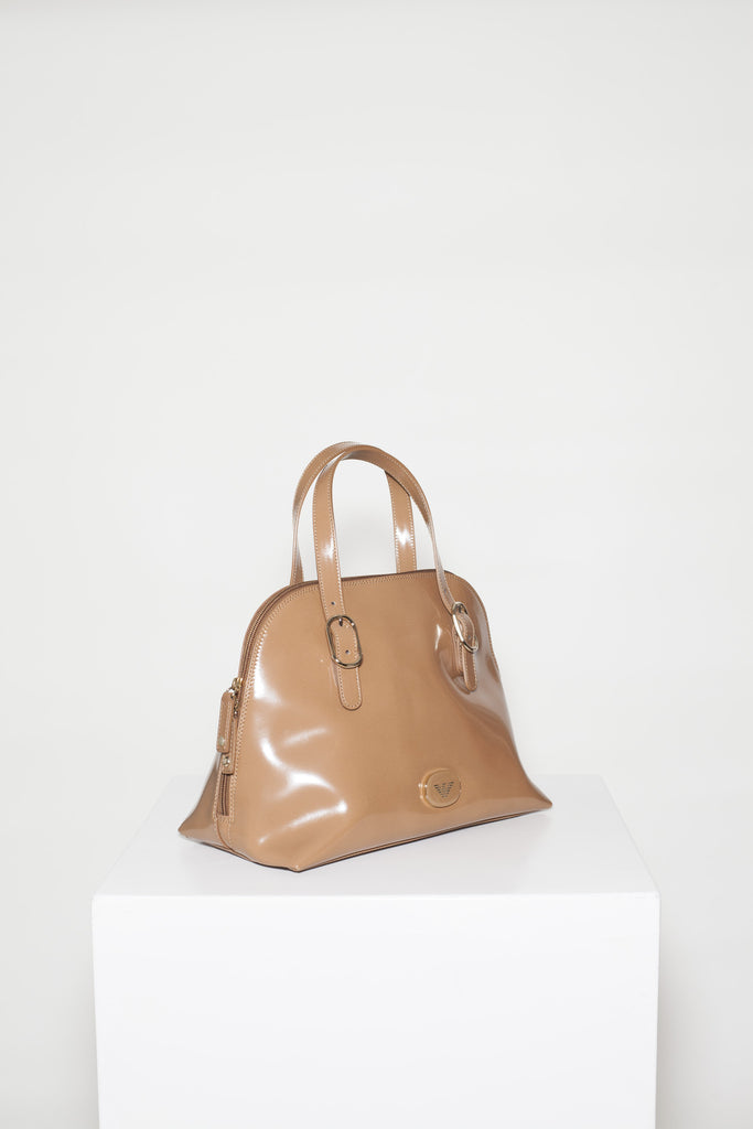 Smooth leather tote bag by Emporio Armani