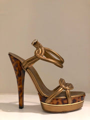 Orchid Platform Sandals by Gucci at Isabella's Wardrobe