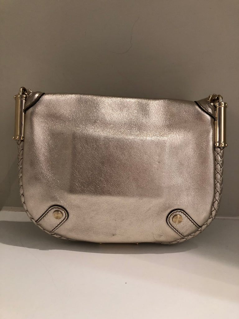 Silver Britt Tassel Bag by Gucci