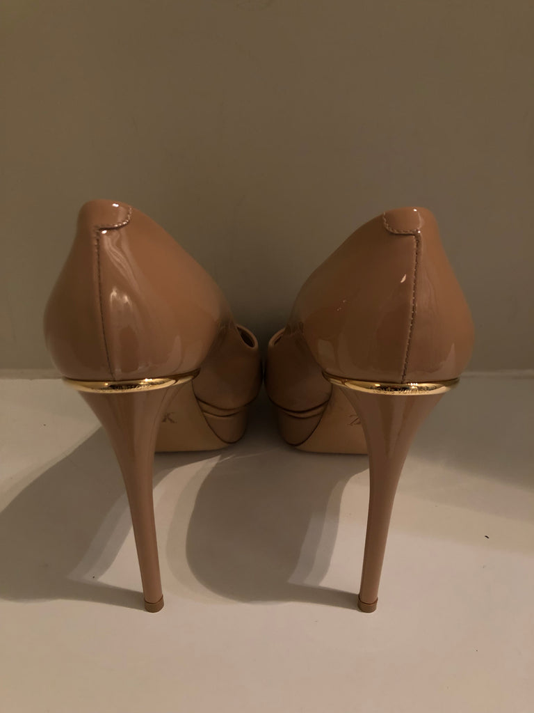 Eyeline Nude Patent Platform Heels by Louis Vuitton