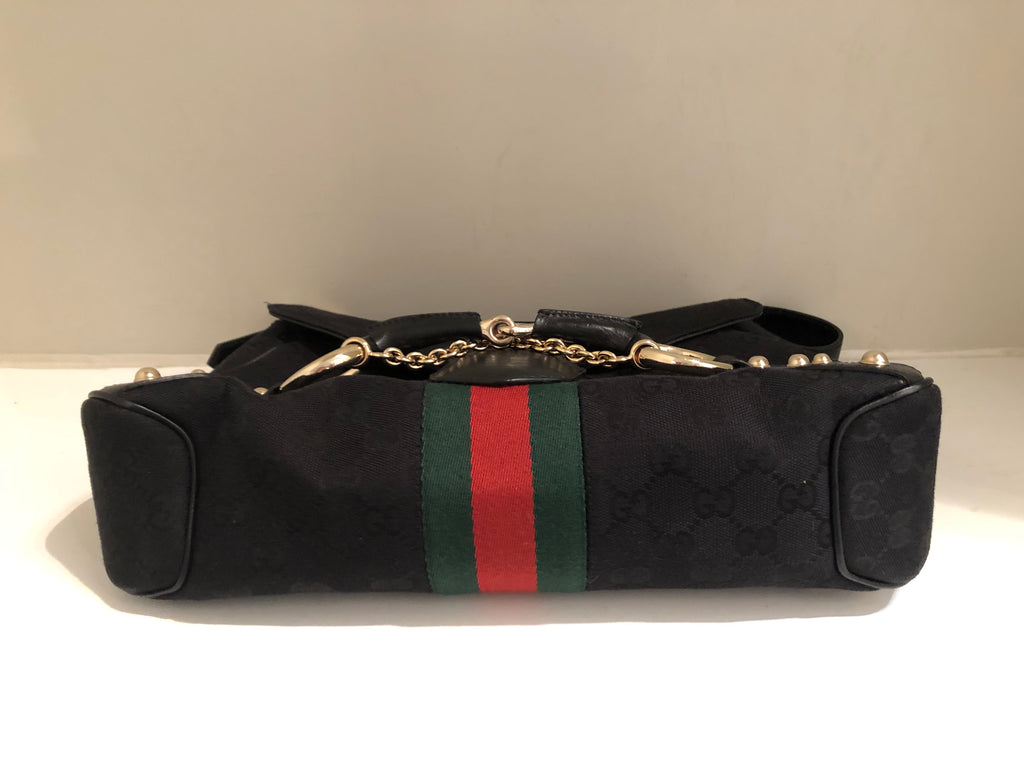 Vintage Sherry Web Horsebit Chain Bag by Gucci