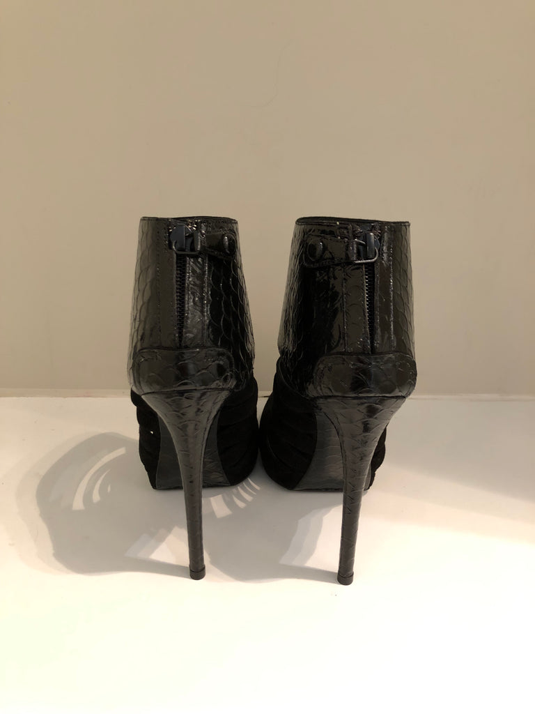 Suede and patent Stilleto Shoe Boot by Balenciaga