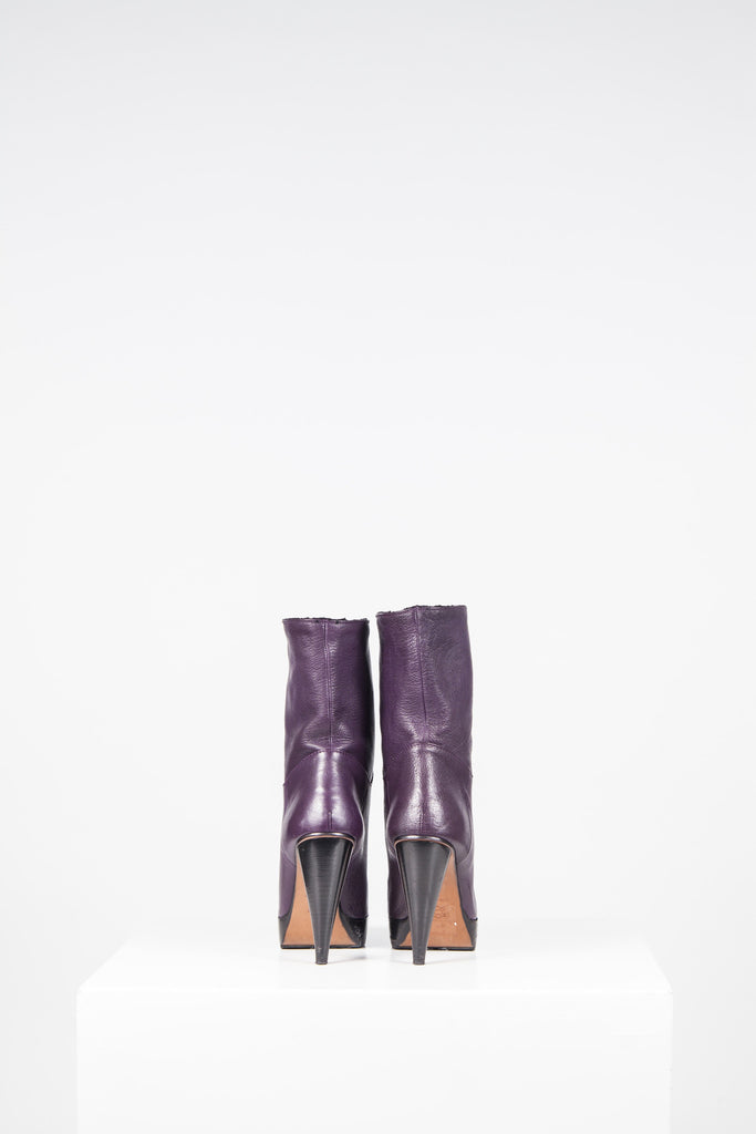 Cone heel, long length ankle boots by Lanvin