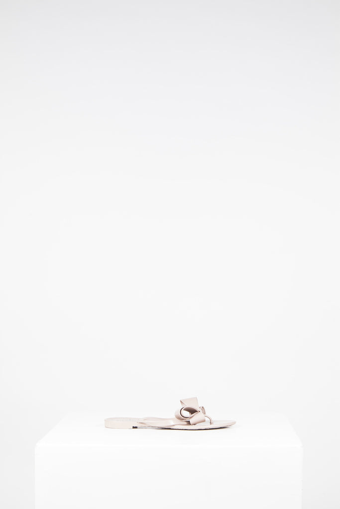 f45a8e8630ddc Couture bow jelly thong sandals by Valentino