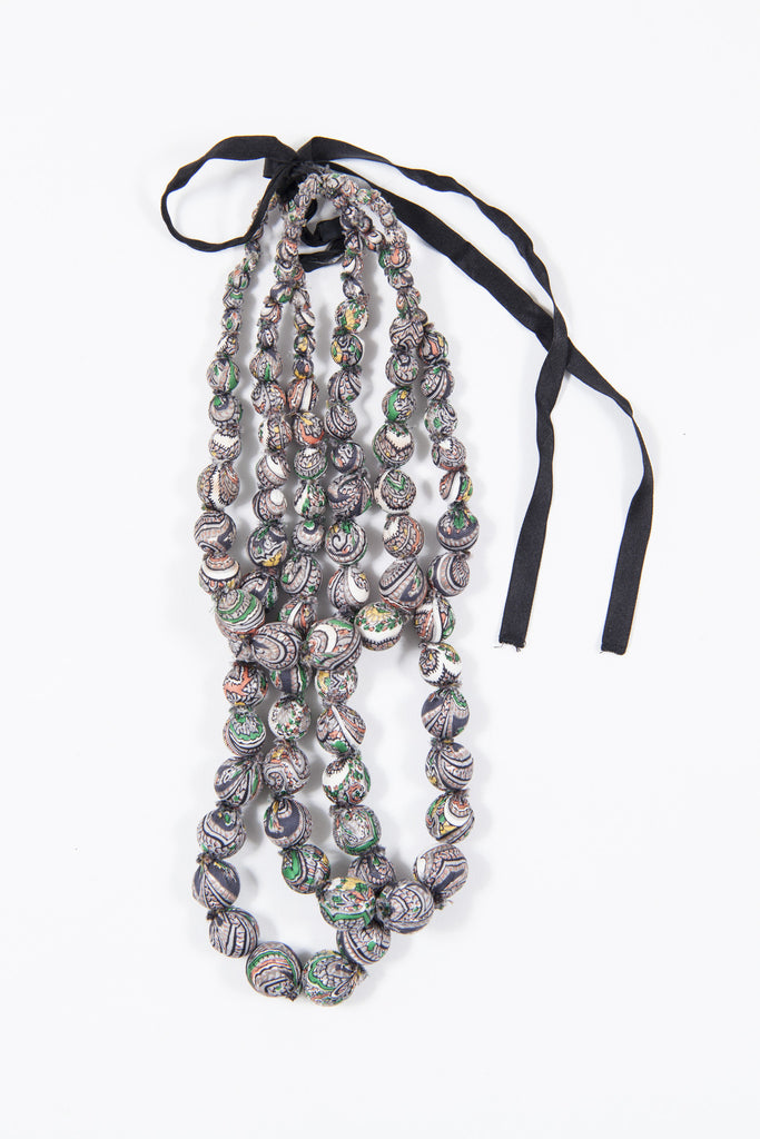 Fabric ball necklace by Prada