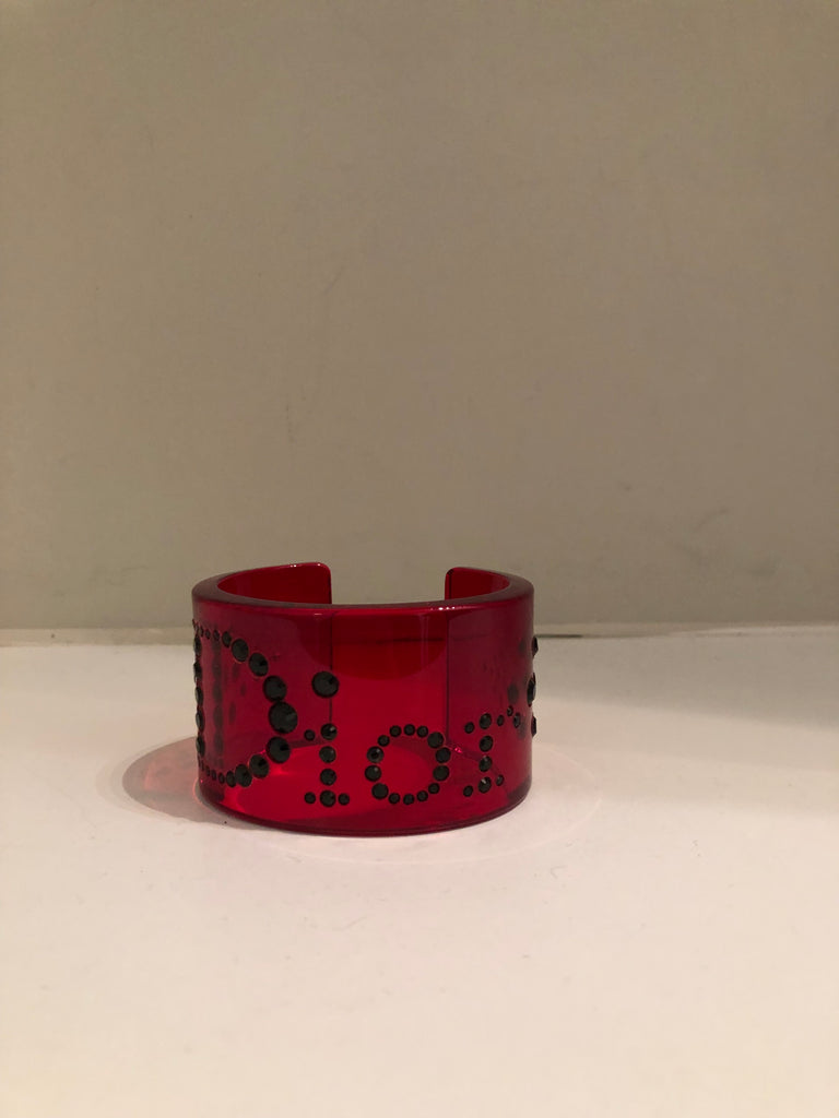 Red Perspex Cuff by Christian Dior
