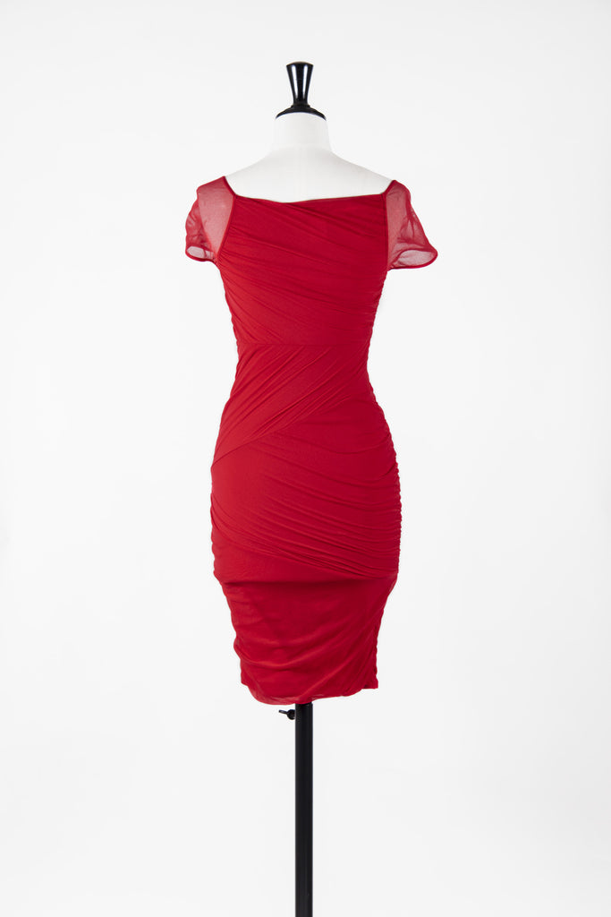 Draped chiffon dress by Wolford