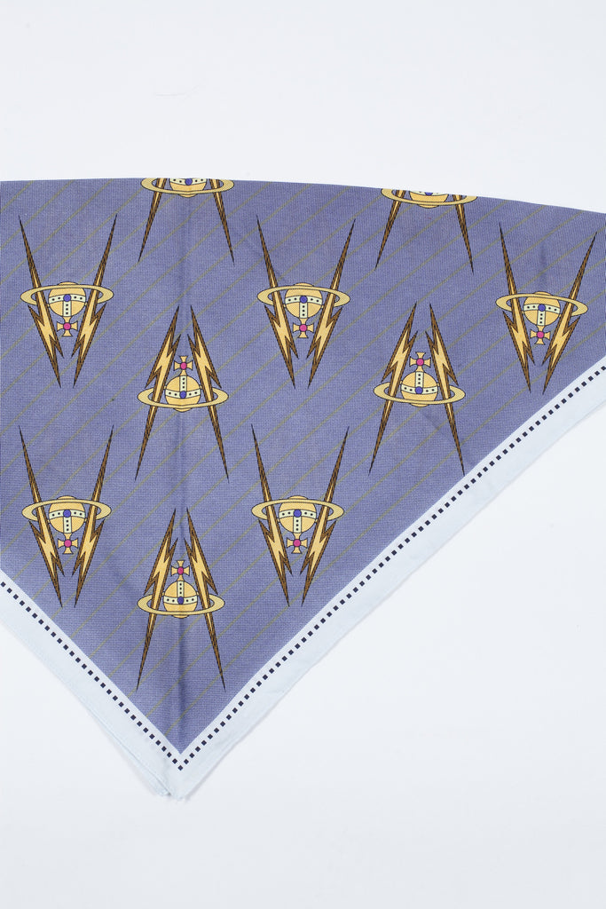 Orb logo square scarf by Vivienne Westwood