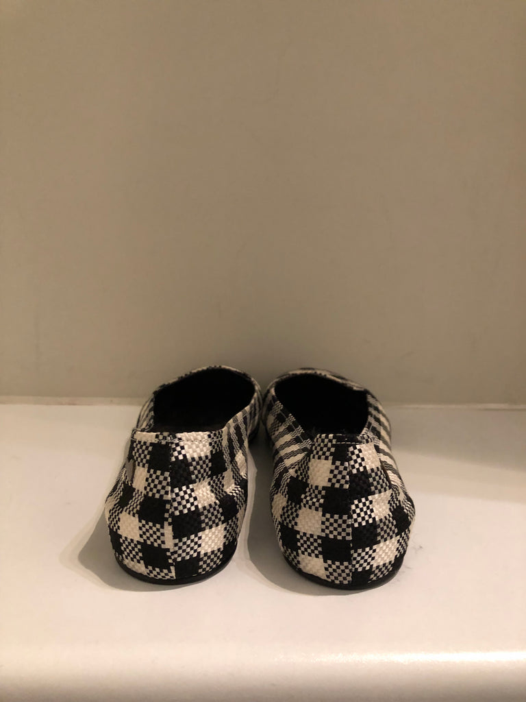 Chequered Canvas Slippers by Rochas