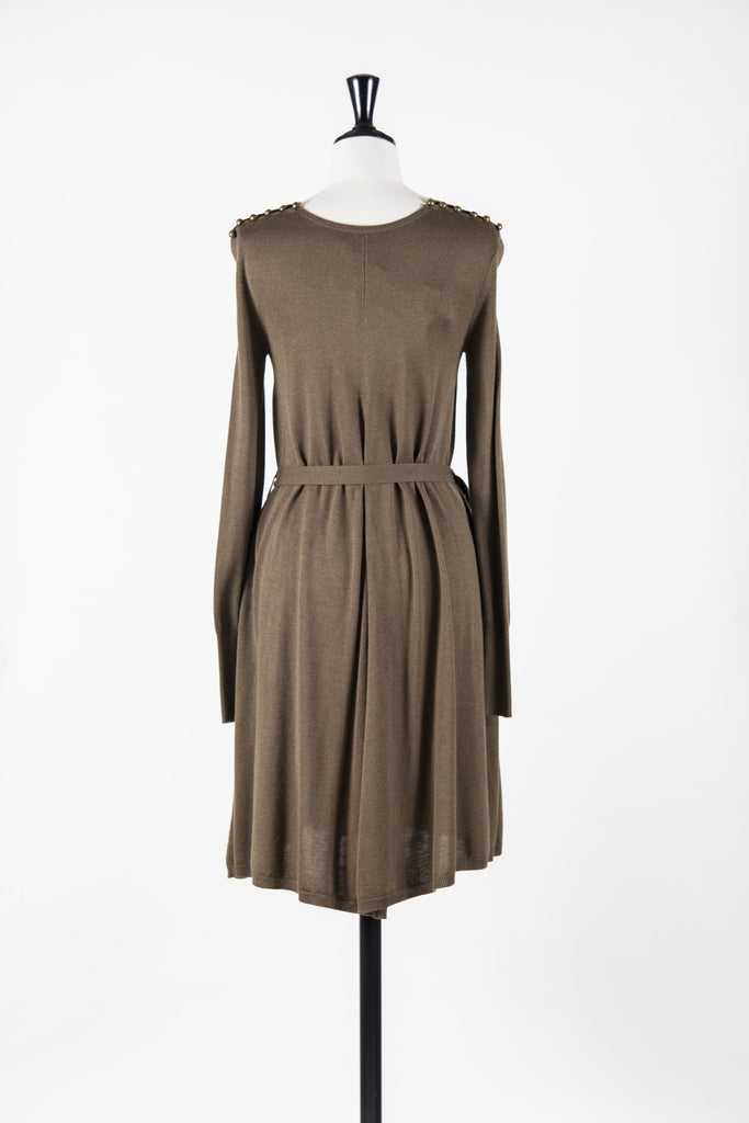 Belted wool dress by McQ