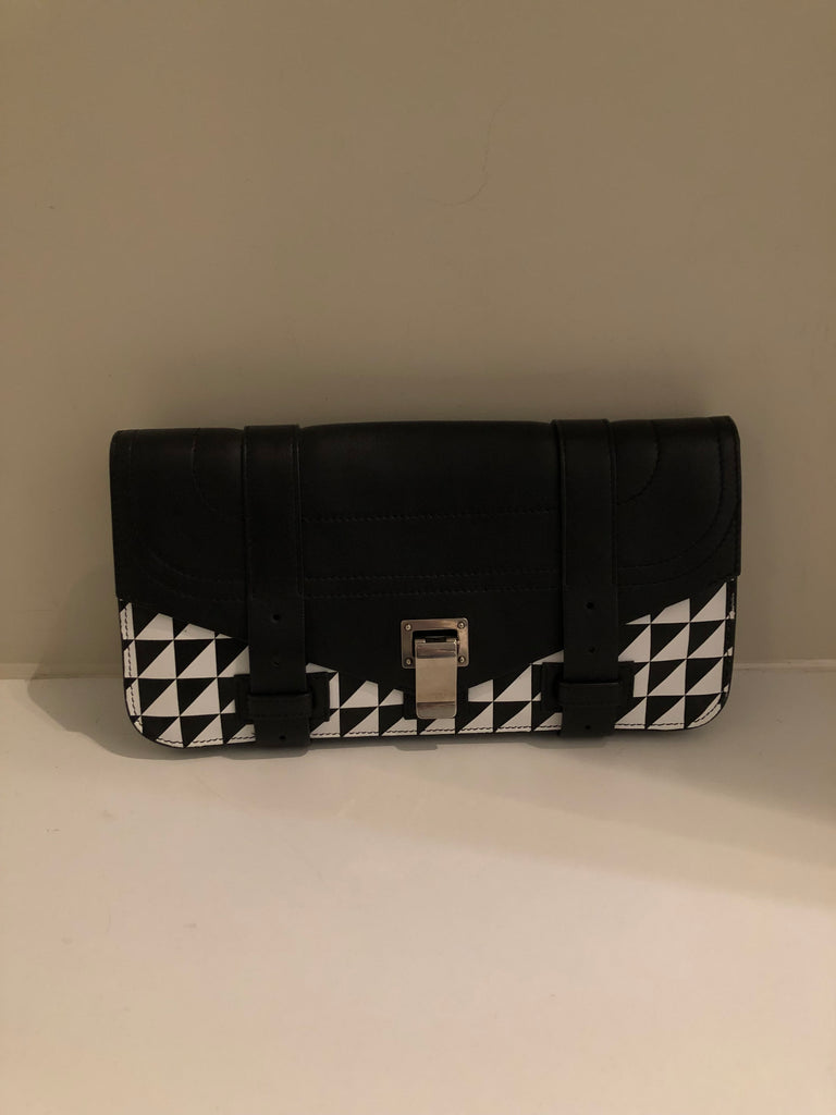 PS1 Printed Clutch Bag by Proenza Schouler