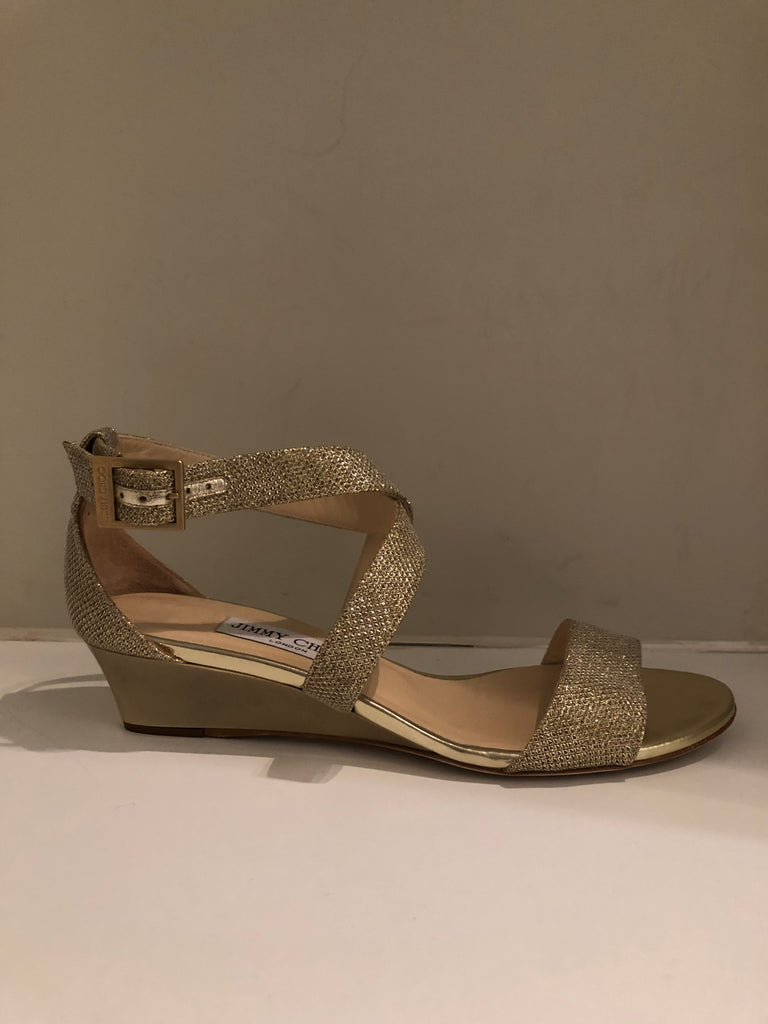 Chiara Glitter Sandals by Jimmy Choo