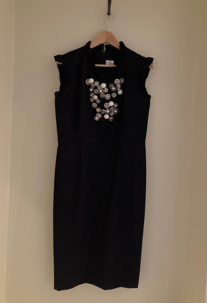 Button Embellished Dress by Comme des Garcons GIRL