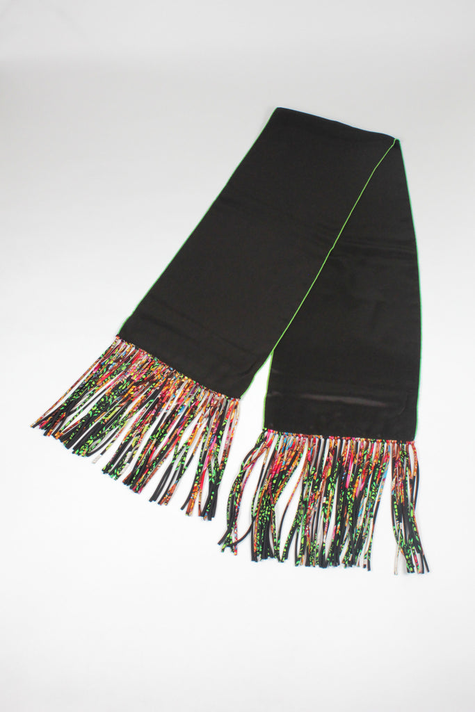 Multicoloured Tasseled Stole by Hermes