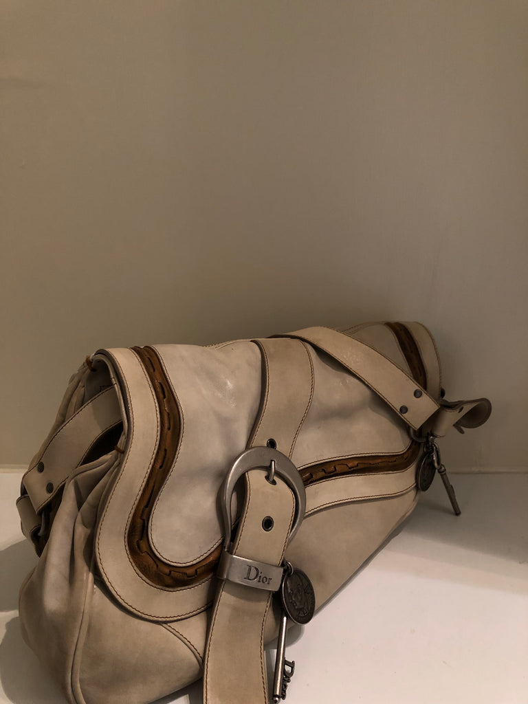 Vintage Gaucho Double Saddle Bag by Christian Dior