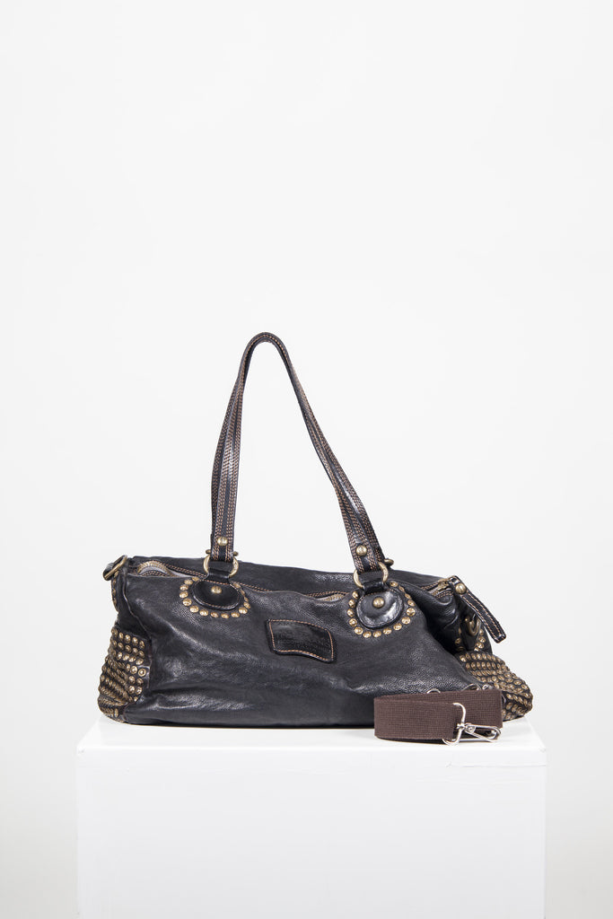 Handmade studded bag by Campomaggi
