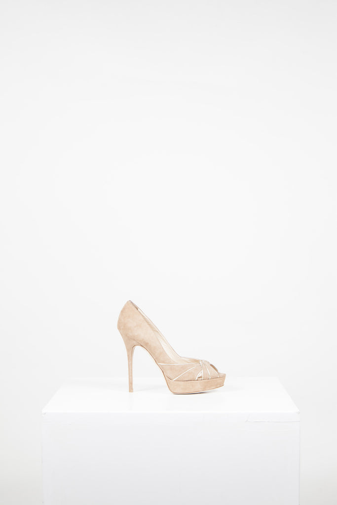 Kilda peeptoe heels by Jimmy Choo
