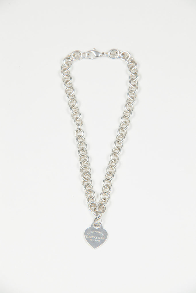 Heart charm and chain necklace by Tiffany