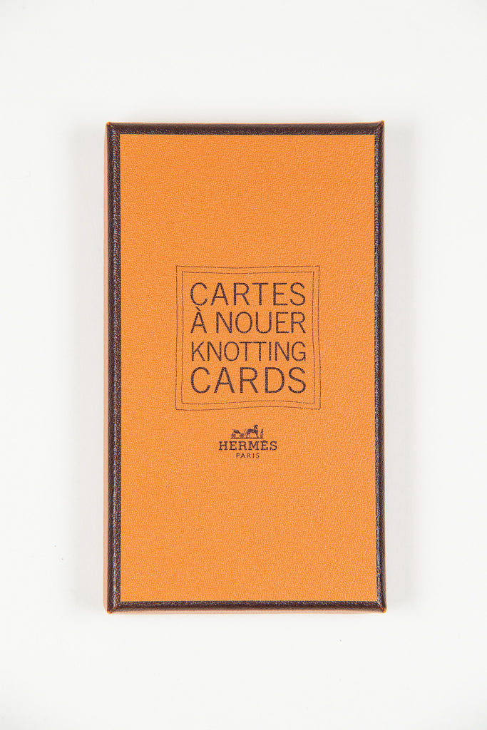 Hermes Scarf knotting cards by Hermes