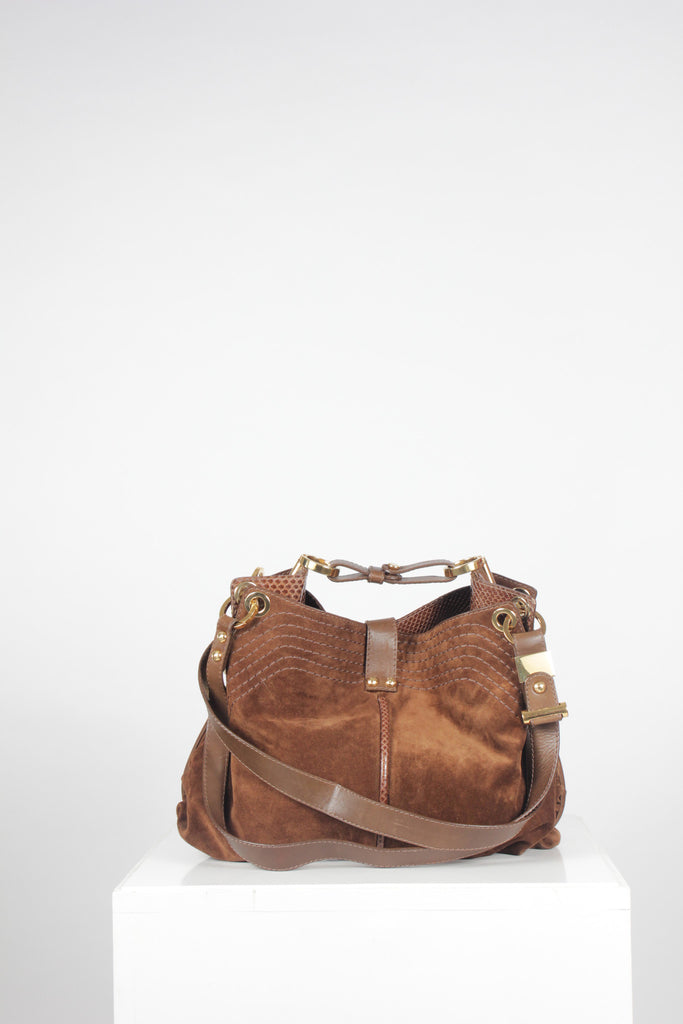 Python Trim Ayse Hobo by Jimmy Choo