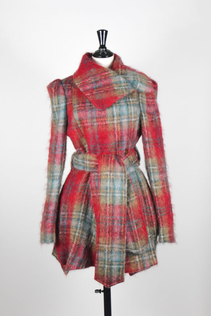 Heritage Plaid Coat by Vivienne Westwood Red Label