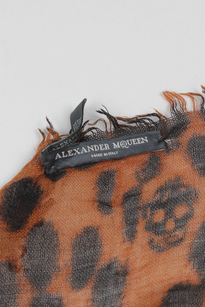 Cashmere Leopard Print Scarf by Alexander McQueen
