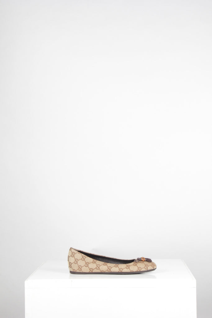 Guccissima Tassel and Bamboo Ballet Flats by Gucci