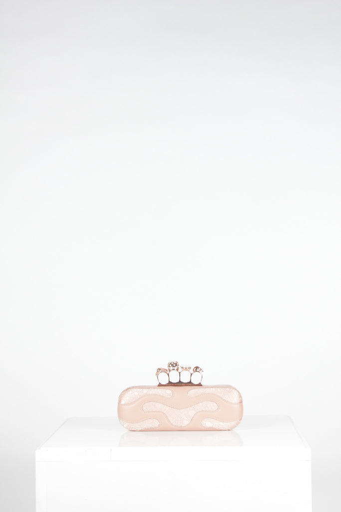 Bejewelled Knuckle Box Clutch by Alexander McQueen