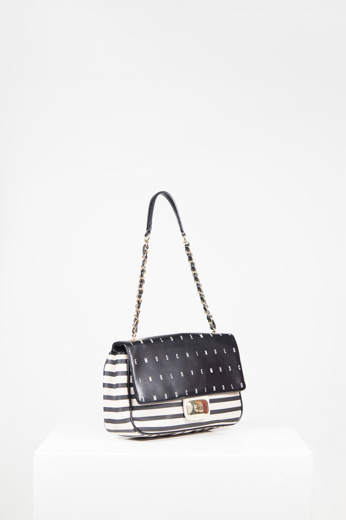 Love Moschino striped shoulder bag by Love Moschino