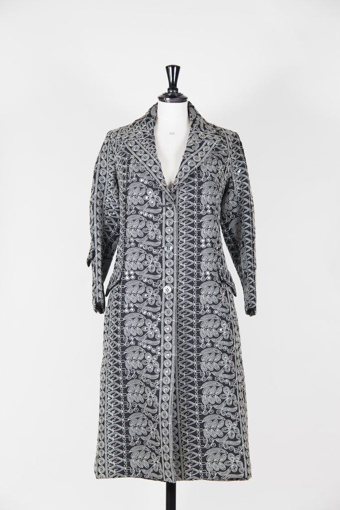 Embroidered sequinned coat by Voyage
