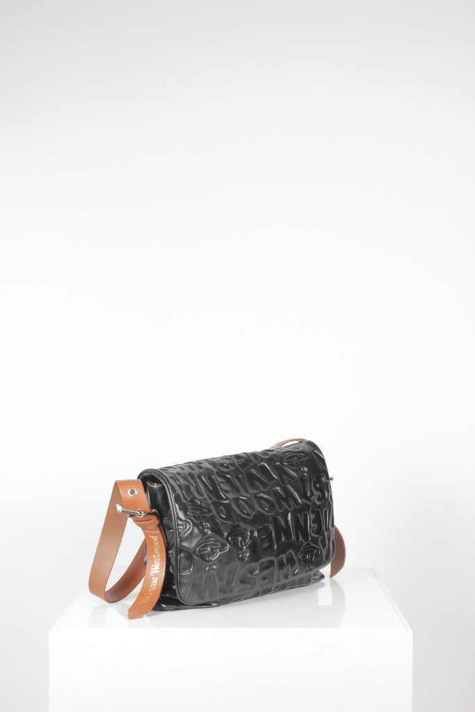 Stoneage Embossed Flap Shoulder Bag by Vivienne Westwood
