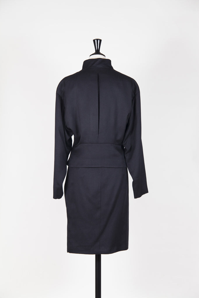 Herringbone weave skirt suit by Gianna Versace Couture